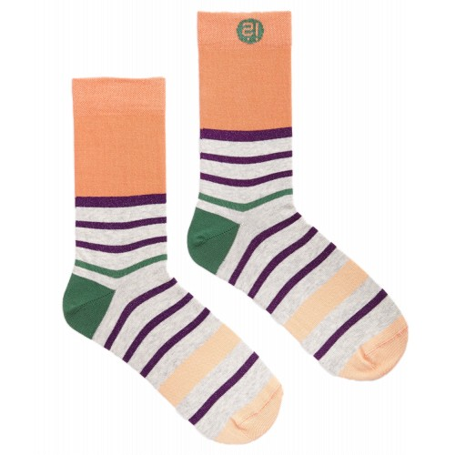 Orange Stripes Sock