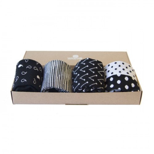 Black & White Socks Gift Box
