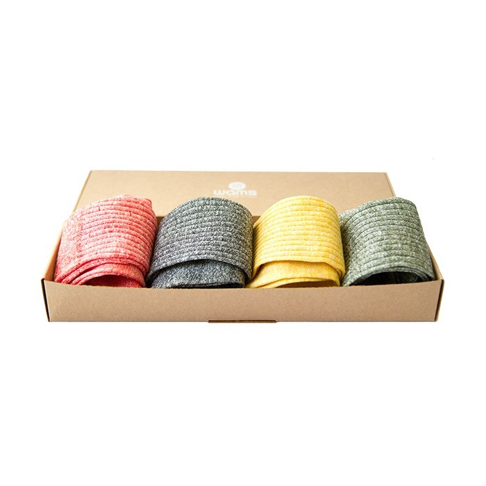 Monocolor Linen Socks Gift Box