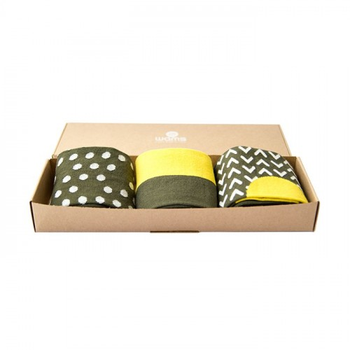 Green Finest Cotton Gift Socks Box
