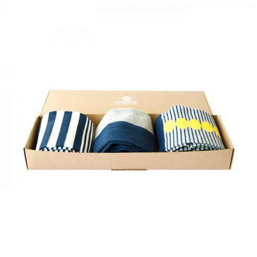 Blue Finest Cotton Gift Socks Box