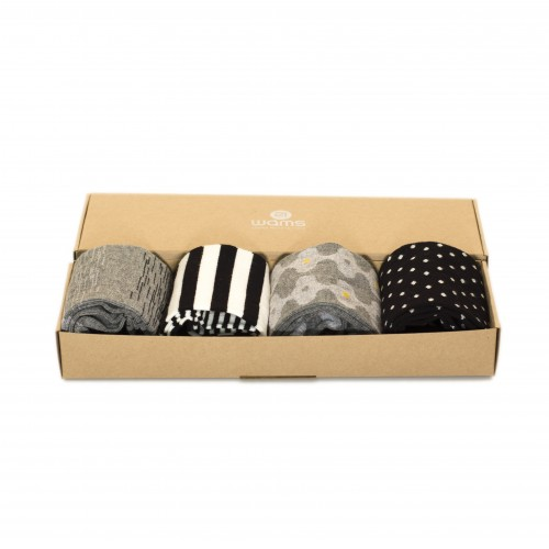 Black and White Socks Box