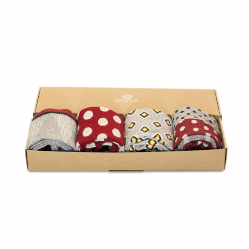 Red Party Socks Box