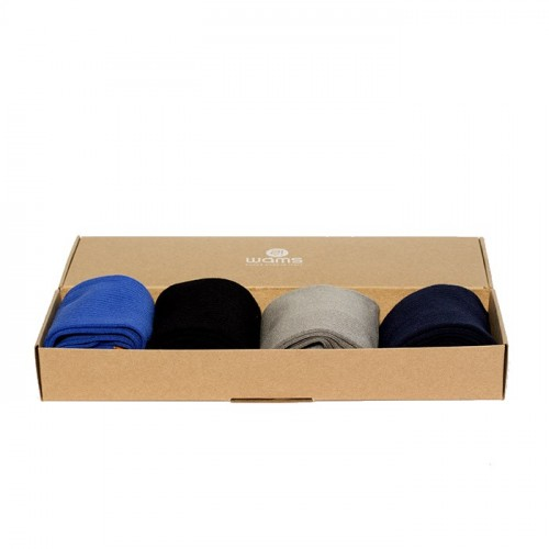 "Rib Socks Gift Box Men ""Blue"""
