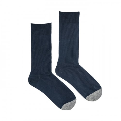 Rib Socks Navy Blue