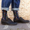 Dark Blue Birds Sock