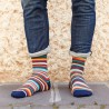 Dark Mixed Stripes Sock