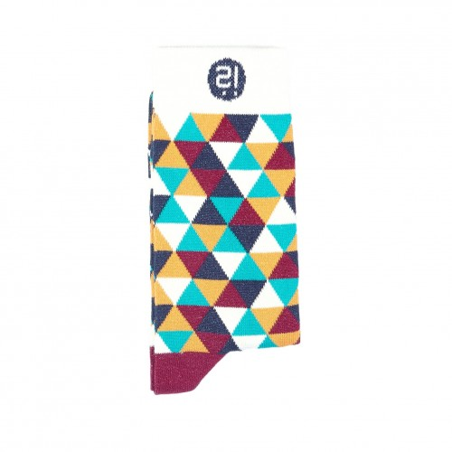 Aqua Triangle Sock