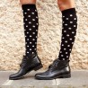 Black White Dots Knee Sock