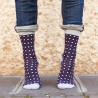 Blue Micro Dots Sock