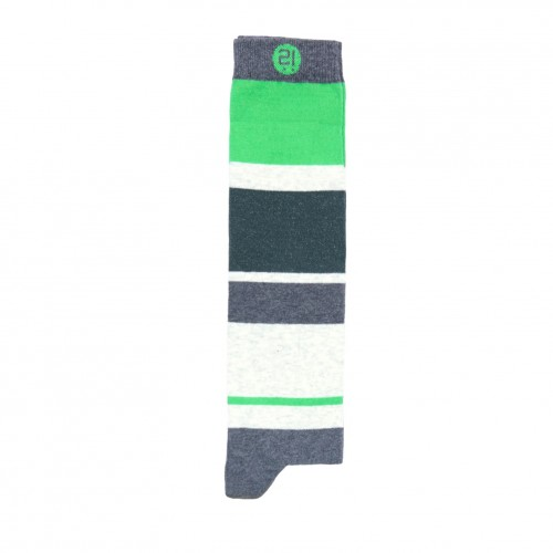 Blocks And Stripes Knee Sock