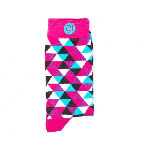 Pink Triangle Sock